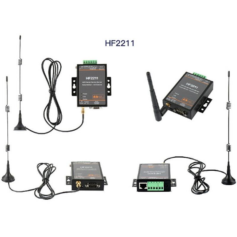 HF2211 Modbus Последовательный RS232/RS485/RS422 к Ethernet/Wi-Fi конверсионный модуль, поддержка обновления веб-OTA wiselss (EU Plug)