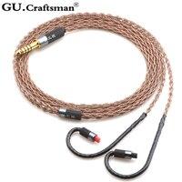 Gucraftsman 6n occ 구리 ATH-IM50 im70 im01 im02 im03 im04 2.5mm/4.4mm 밸런스 헤드폰 업그레이드 케이블