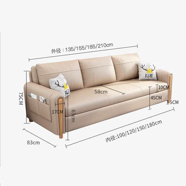 Northern European-Style Sofa Bed  3