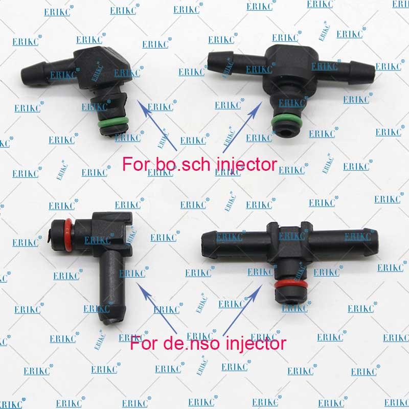 10 Uds. De retorno de la Junta de reflujo de aceite tipo T y L para Bosch Denso diésel inyector de plástico conector de tubo manguera Tubo de empalme de combustible