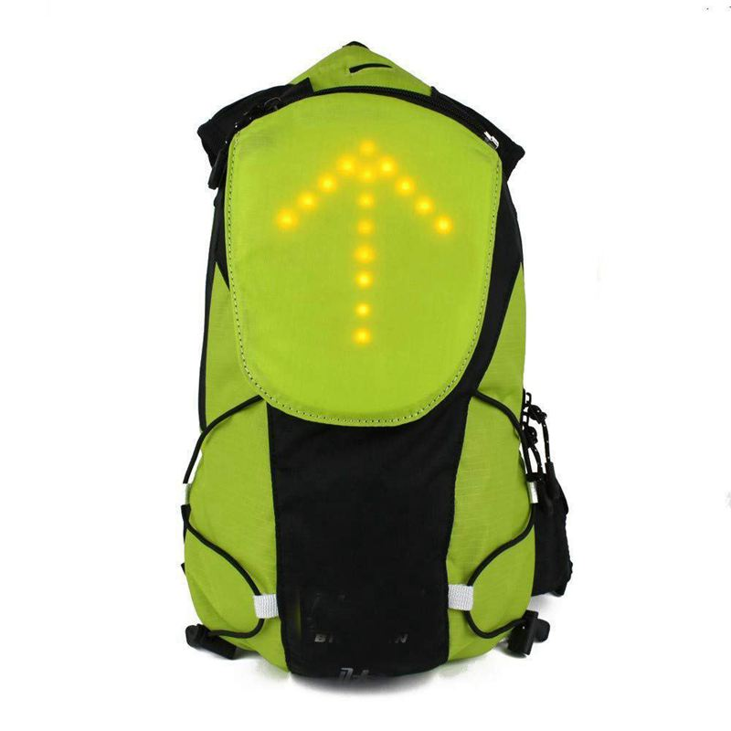 LED Turn Signal Light Reflective Vest Backpack/Waist Pack/Business/Travel/Laptop/School Bag Sport Outdoor Waterproof for Safety image