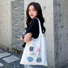 Handbag Large-Capacity Canvas-Bag Class-Hand-Carrying-Bag Single-Shoulder Women's Student's