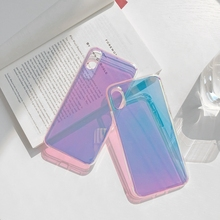 Laser Color Gradient Phone Case For iphone 8 7 6 X XS XR XSMax Cases
