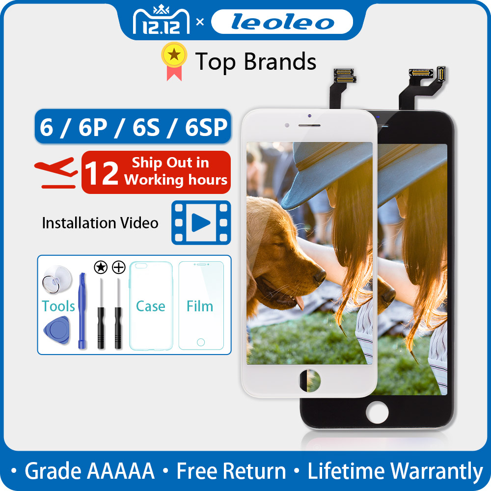 White&Black Lifetime Assurance AAAAA For IPhone 6S Plus 6S+ 5.5'' LCD Display Touch Screen Digitizer Assembly With 3D Touch