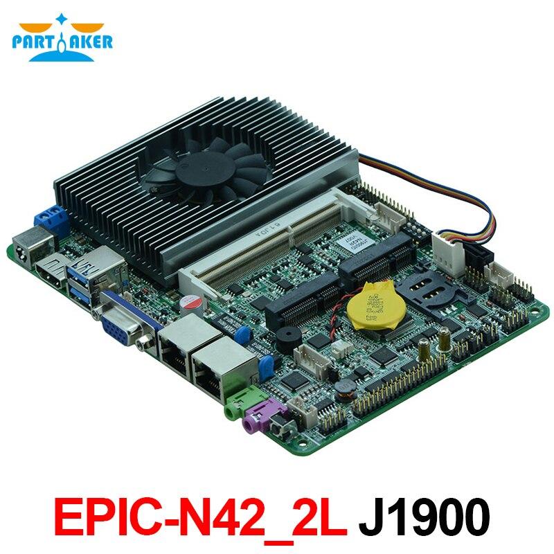 Partaker 4-дюймовая материнская плата, четырехъядерный процессор Celeron J1900, 8 ГБ, двойная LAN 6 * COM 4 дюйма, X86, с LVDS