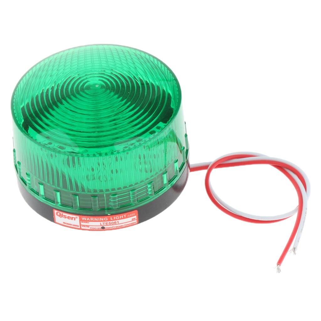 24V Flash Strobe / Always On Warning Light Round Signal Beacon Lamp Green