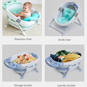 Image 3 - Baby Bathtubs for Infants Childrens Folding Bath Bucket Multifunctional Aluminum Alloy Bathtub Large 0 15 Growth Stage Bathtub