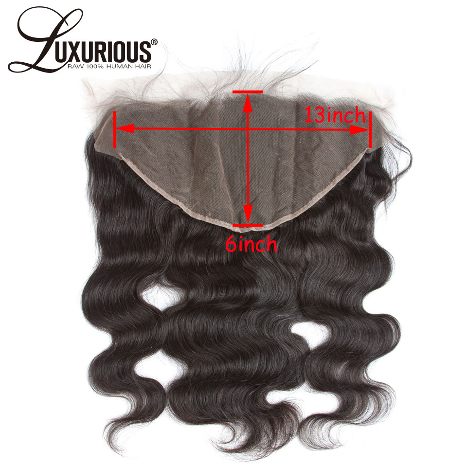 Transparent Lace Pre Plucked Ear To Ear 13x6 Lace Frontal Closure With Baby Hair 8-22inch Peruvian Body Wave Remy Human Hair