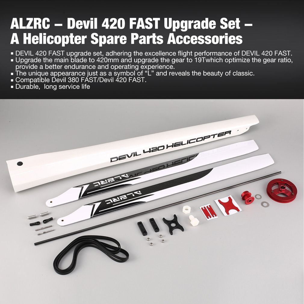 ALZRC - Devil 420 FAST Upgrade Set - A Suitable for Devil 380 FAST Helicopter Lightweight Spare Parts Accessories Component
