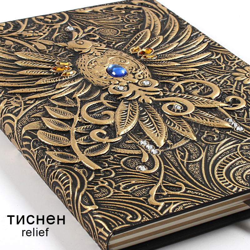 European-style Vintage Embossed Leather Notebook Bullet Journal Diary Note Book Filofax Notepad Travelers Notatnik  Stationery