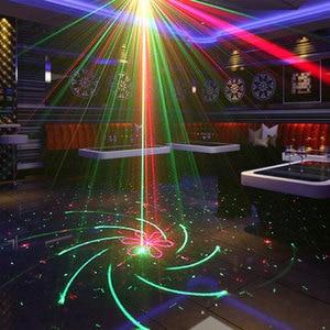 Image 4 - Lumières de partie de Disco de Laser de contrôle vocal de stroboscope de doubles couleurs avec des lumières sonores de lumière détape de Dj déquipement graphique