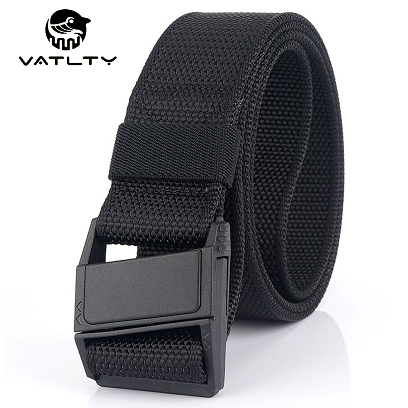 New Lightweight Tactical Belt Men ABS Resin Magnetic Buckle Military Army Belt Strong Soft Real Nylon Outdoor Work Sports Belt