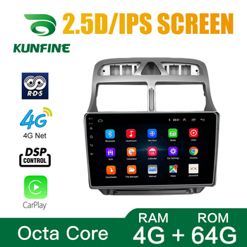 Octa Core Android 10.0 Car DVD GPS Navigation Multimedia Player Deckless Car Stereo for Peugeot 307 Radio WIFI image