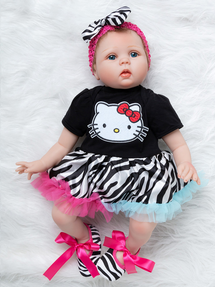 Newest Girl Toys 55cm Soft Silicone Reborn Dolls Surprises Gifts Baby Realistic Doll Reborn Vinyl Boneca Reborn Doll For Girls