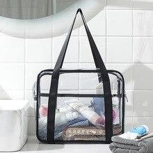 Унисекс + большой + емкость + ПВХ + прозрачный + водонепроницаемый + дорожная + сумка + портативный + макияж + хранение + сумка + женщины + стирка + ванна + сумка + туалетные принадлежности + сумочка
