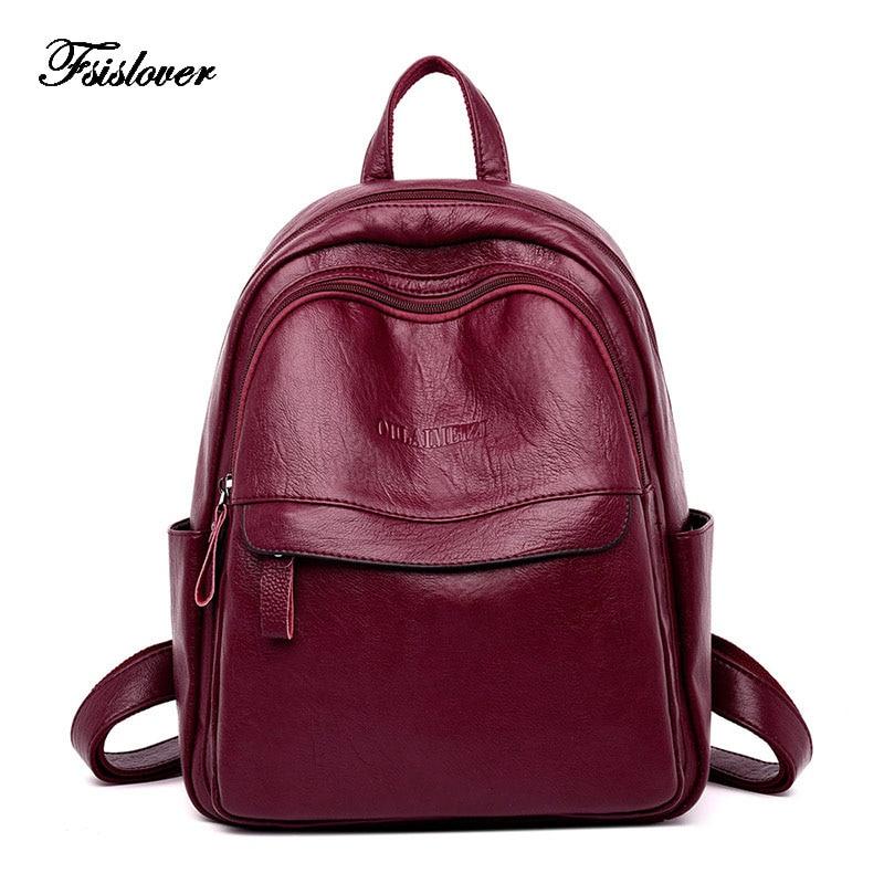 100% Genuine Leather Women Backpack Female Casual Multifunction School Bag Designer Shoulder Bag Women Travel Backpack Mochila