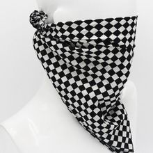 55x55cm White Black Checkered Flag Racing Bandana Unisex Multi-Use Square Headband Motorcycle Outdoor Sports Hair Wrap Wristband