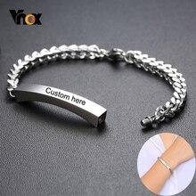Vnox Anpassen Name Feuerbestattung Memorial Urne Armband Nie Verblasst Edelstahl Frauen Armband Personalisierte Geschenk