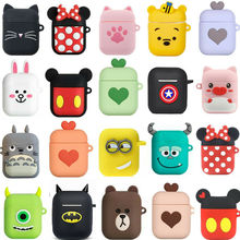 DHL 50pcs Cartoon Earphone Case Soft Silicone Doll Case For Apple Airpods Wireless Bluetooth Headphone Cases Toys Full Cover