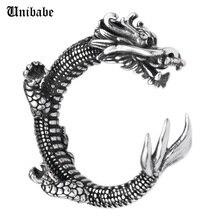Регулируемое кольцо из серебра 925 пробы с драконом (HY)