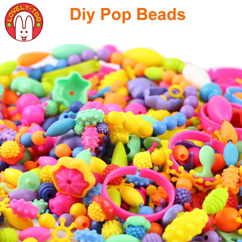 Diy Pop Beads Girls Toys Creativity Needlework Kids Crafts Children's Bracelets Handmade Jewelry Fashion Kit Toy For Girl Gift