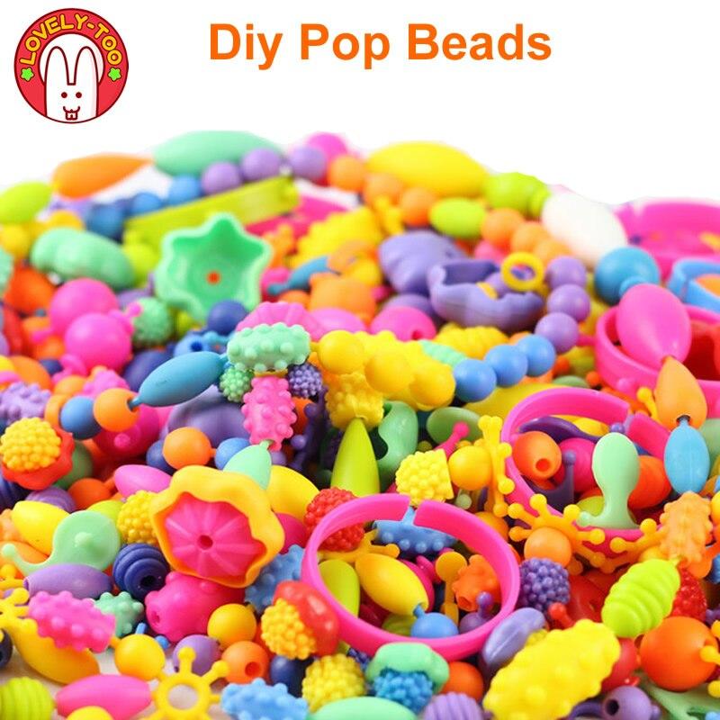 Diy Pop Beads Girls Toys Creativity Needlework Kids Crafts Children's Bracelets Handmade Jewelry Fashion Kit Toy For Girl Gift(China)