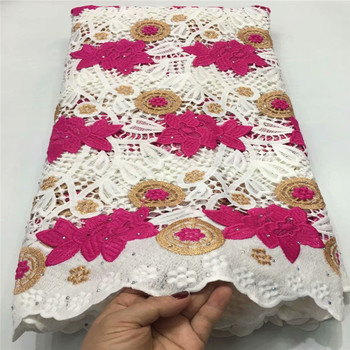New Arrival African cord lace fabric latest african lace 2019 high quality guipure lace nigerian lace fabric for dresses E82-813