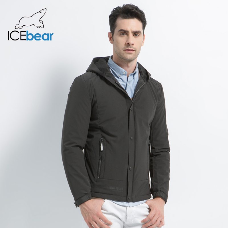 ICEbear 2019 New Men's Casual Coat Autumn Man Warm Brand Fashion Jackets Cotton Padded Overcoat Windproof Coat  MWC18216D