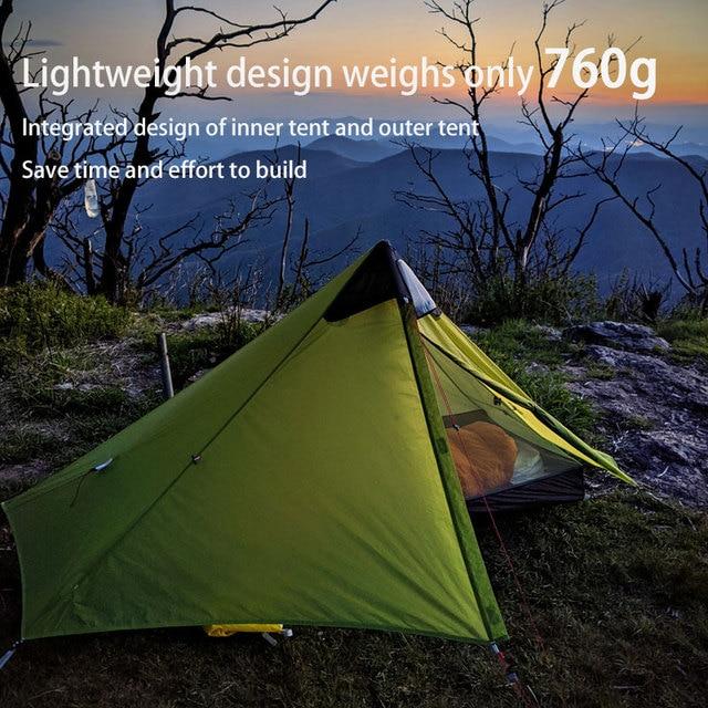 3F UL GEAR Lanshan 1 Ultralight Camping 3 Season 15D Tent 5