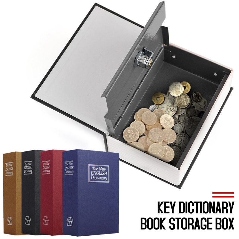 Dictionary Password Lock Book Money Cash Jewellery Secret Hidden Security Box