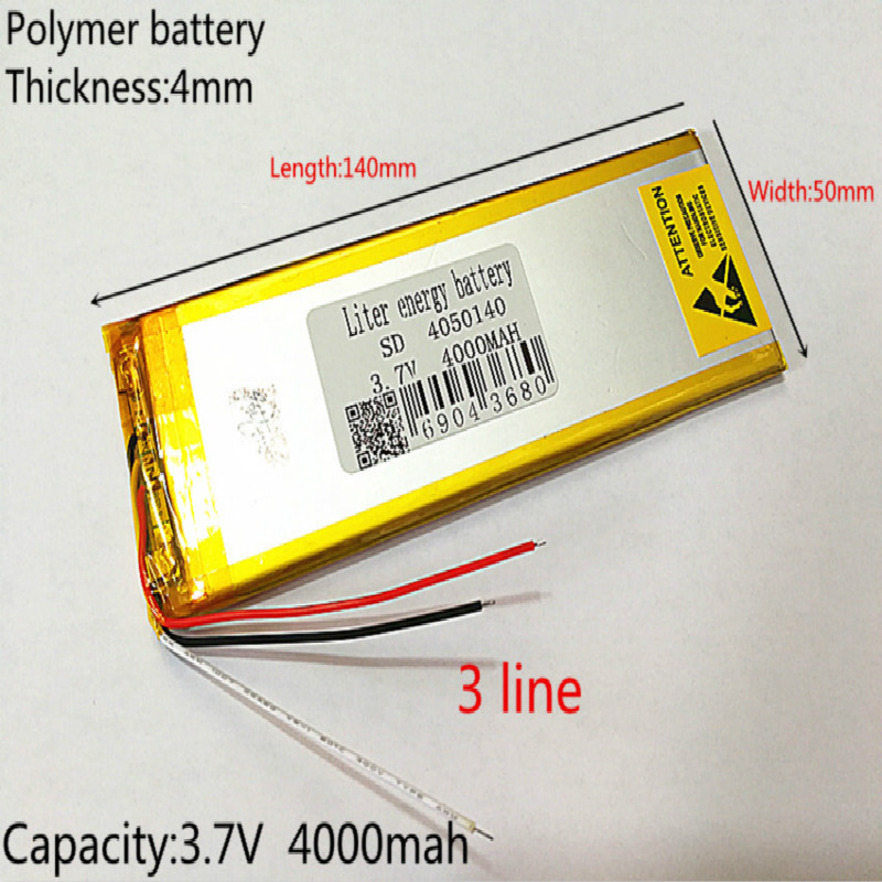 3 line Polymer lithium <font><b>battery</b></font> <font><b>3.7</b></font> <font><b>V</b></font>, 4050140 <font><b>4000mah</b></font> can be customized wholesale CE FCC ROHS MSDS quality certification image
