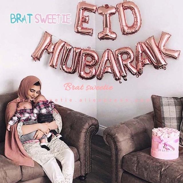 عيد مبارك بالونات حروف وأرقام لزينة حفلات إسلامية إسلامية عيد الفرت ديكورات رمضان رمضان مبارك مستلزمات حفلات