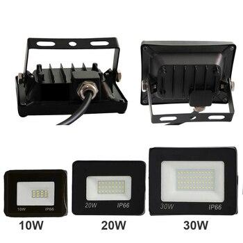 Diodo Emissor De Luz Holofote 150 W 100 50 30 20 Ultra Fino Conduziu A Luz De Inundação Ao Ar Livre Ac220v Ip 65 Lâmpada De Parede Ao Ar Livre Luz De Inundação Led