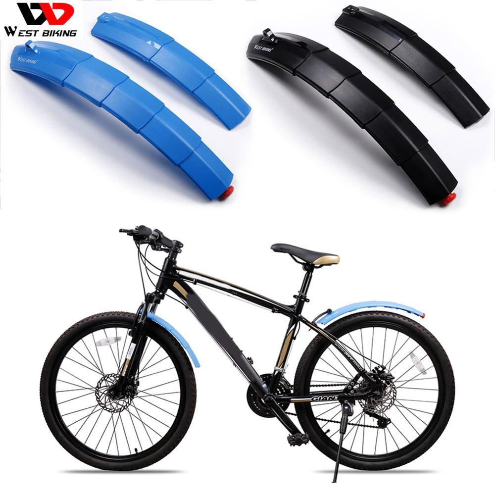 מערב רכיבה על אופניים 1 זוג טלסקופי Foldble אופניים פגושי מגני בץ עם טאיליט אופניים חלקי רכיבה על ציוד חם