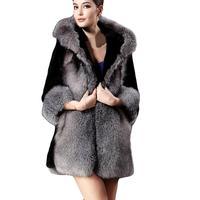 Faux Fur Coat Women Winter Fluffy Plush Coat Plus Size 4XL Warm Soft Solid Hooded Loose Coat Outwear Teddy Jassen Fourrure