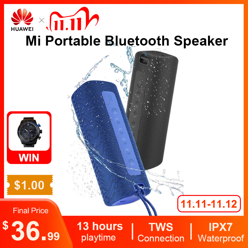 Xiaomi Mi Portable Bluetooth Speaker Outdoor 16W TWS Connection High Quality Sound IPX7 Waterproof 13 hours
