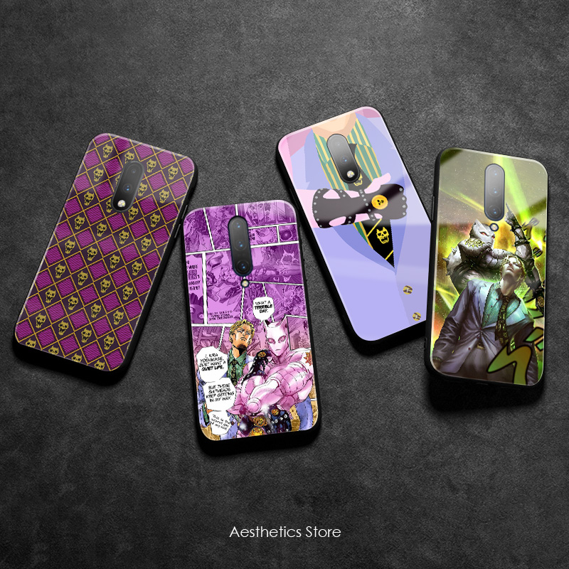 Yoshikage Kira JOJO Part 4 Diamond Is Unbreakable Glass Soft Silicone Phone Case Cover Smooth Shell for OnePlus 6 6T 7 7T Pro image