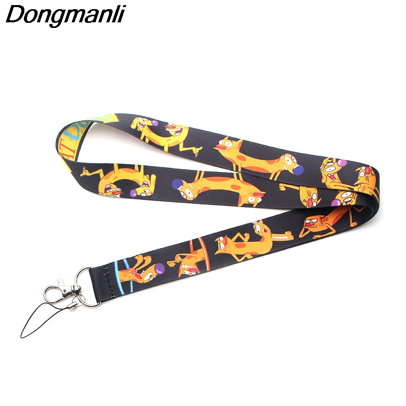 PC178 Cat And Dog Keychain Lanyards Id Badge Holder ID Card Pass Gym Mobile Phone USB Badge Holder Key Strap