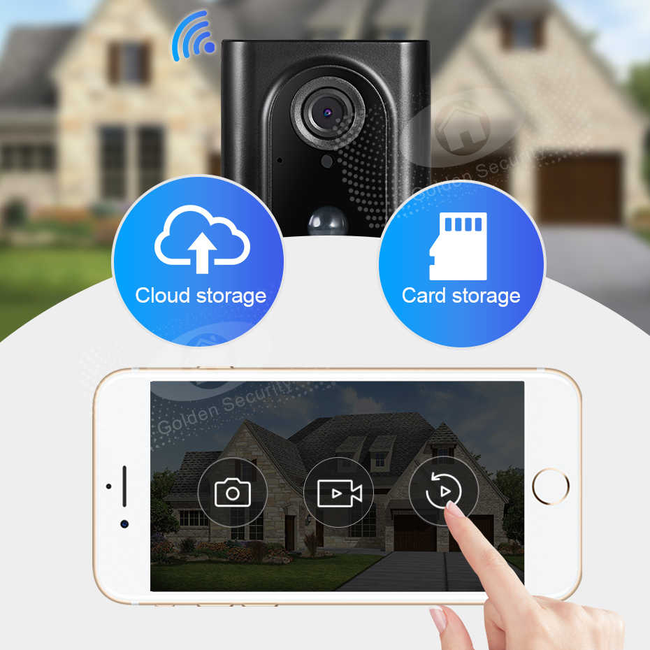 Oro di Sicurezza L16 960P Video Senza Fili Campanello Smart Camera a Due Vie Audio Cloud Storage per La Casa di Sicurezza