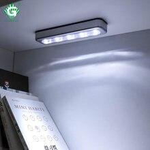 Interrupteur tactile sans fil, 5 armoires de cuisine, 5 LED, interrupteur, éclairage d'intérieur, pour placard, lampe adhésive à piles, pour escalier et chambre à coucher