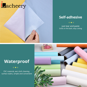 Image 5 - Solid Color Moire Waterproof Self adhesive Wallpaper for Living Room Kids Bedroom Vinyl Contact Paper for Dormitory Room Decor