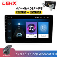 LEHX 9/10 Zoll Ram2GB Auto 2 din Android 9, 0 Radio Auto Multime video Player