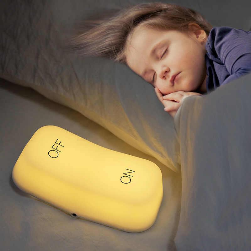 OP-OFF Zwaartekracht Schakelaar Lichten Slaapkamer Nachtkastje Decoratie Tafellamp Sensing Night LED Light Smart Energiebesparende USB opladen