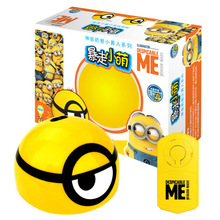 Миньоны, бегущий индукционный игрушечный шар, Радиоуправляемый автомобиль, волшебный сверкающий светящийся светодиодный Радиоуправляемый детский инфракрасный игрушечный волшебный маленький желтый человек