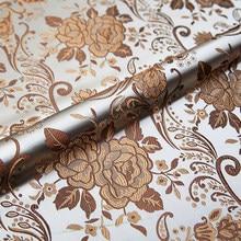 Großhandel pfingstrose brokat stoff 50cm * 75cm satin tuch custume imitation seide material