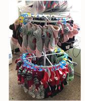 Pet dog hanger pet supplies wrought iron floor display stand round rotating double underwear shelves