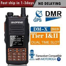 2020 Baofeng DM X GPS מכשיר קשר כפול זמן חריץ DMR דיגיטלי/אנלוגי DMR מהדר שדרוג של DM 1801 DM 1701 DM 1702 רדיו