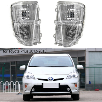 цена на LED Front Bumper Fog Lights For Toyota Prius ZVW30 2012-2015 Driving Light DRL fog Light Daytime Lamp Day Light Foglamp Assembly