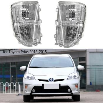 цена на LED Front Bumper Fog Lights For Toyota Prius ZVW30 2012-2015 Driving Light DRL fog Light Daytime Lamp Day Light Foglamp Assembly
