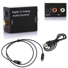 Digital ao conversor de áudio analógico coaxcoaxcoaxialtoslink ótico de digitas ao amplificador análogo do adaptador do conversor de áudio de rca l/r